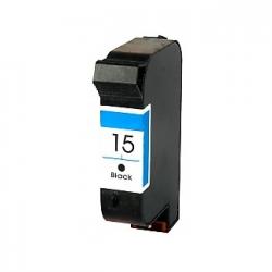 Cartucho de Tinta Compatível com HP 15 (C6615NL) Preto | 38ml - 810 812 825 840 841 842 843 845 920 940 PSC 500 | 750 | 950 V40 | 5110 Copier 310