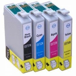Kit 4 Cartuchos Compatível Epson TO731 BK | TO732 C | TO733 M | TO734 Y