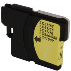 Cartucho de Tinta Brother Compatível LC-61Y LC-61 Amarelo | 13ml - MFC-250C DCP-6690CW MFC-5490CN DCP-145C DCP-165C MuDCP-385C DCP-585CW MFC-290C MFC-490CW MFC-790CW MFC-990CW MFC-5890CN MFC-6490CW MF