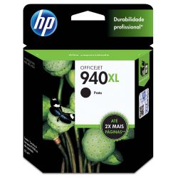 Cartucho HP ORIGINAL 940XL Preto C4906AB - 8000 8000WL 8500 8500WL