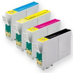 Kit c/ 4 cartuchos Compatíveis Epson TO196/197 - XP 104  XP 204  XP 214  XP 101  XP 201  XP 401  XP 411  WF 2532