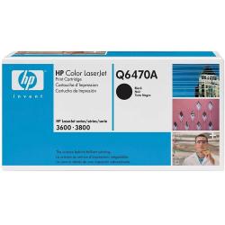 Toner Original HP Q6470A 501A HP3800 HP3600 HP CP3505  (Preto) - 6k