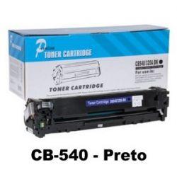 Toner Compatível HP CB540A CB540AB 125A Preto | CP1215 CP1510 CP1515 CP1518 CM1312 - 2k