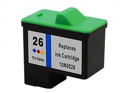 Cartucho de Tinta Compatível p/ Lex 26 (10N0026) Colorido | 12 ml Z35 Z25 Z23 Z33 Z13 X75