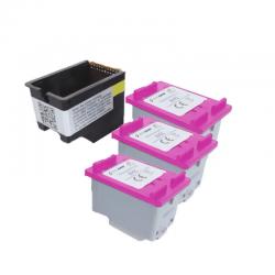 Kit Cartucho Compatível ECO SAVER Tinta 664xl p/ IMPRES  1115 2136 3636 3836 3536 4676 c/ 3 Refis  16,6ml Colorido cada
